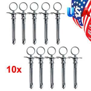 10 dental Aspirating Syringe Anesthetic Type Stainless Steel Surgical Tool 1 8ml