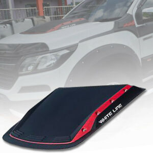 Matt Matte Black Red Bonnet Hood Scoop For Chevrolet Colorado Rg My 2012 2021