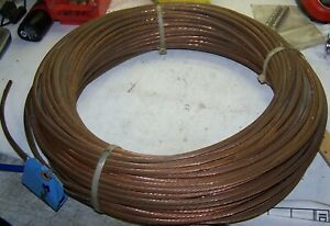 New Stranded Bare Copper Ground Wire 8 Awg 280 Feet 1 4 O d 42 Pounds