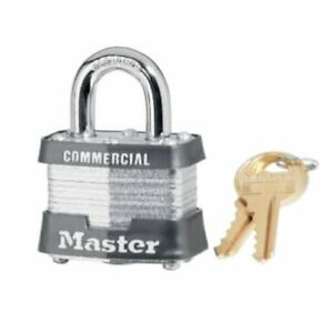 Master Lock 3ka3220 Keyed Alike 1 9 16 Steel Pin Tumbler Padlock Pack Of 4