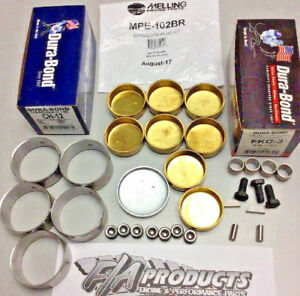 Big Block Chevy 1967 Up Engines Cam Bearings Brass Freeze Plugs Dowels Kit