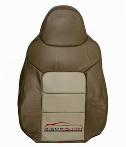 2003 2004 Expedition Driver Lean Back Perforated Leather Seat Cover 2 Tone Tan