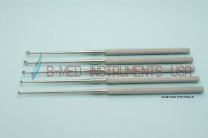Or Grade 5 Buck Ear Curettes Straight Sharp 00 0 1 2 3 Ent Instruments