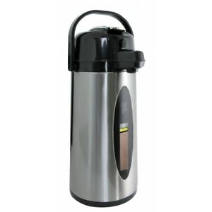 Brand New Newco Koffee By The Kup Stainless Steel Finish Airpots 2 For 1