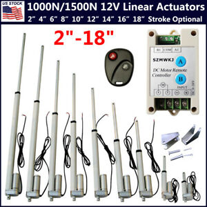 1000n 1500n Linear Actuator 12v Electric Motor For Solar Track Auto Door Lifting