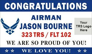 3ftx5ft Custom Personalized Congratulations Airman Us Air Force Banner W Logo 2
