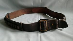 Vintage 1930 s Police Leather Duty Belt 52 Long