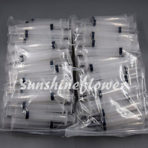 100 Pcs 12ml Dental Irrigation Syringe Curved Tip Utility Hobby Tools Disposable