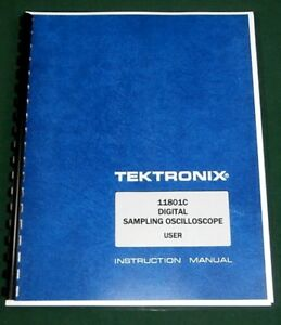 Tektronix 11801c User Manual Comb Bound Protective Covers