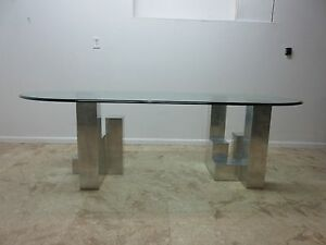 Paul Mayen Habitat Cityscape Aluminum Floating Dining Room Table Evans