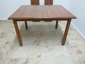 Brandt Ranch Oak Rustic Lodge Dining Room Work Table Mid Century Cowboy Cabin