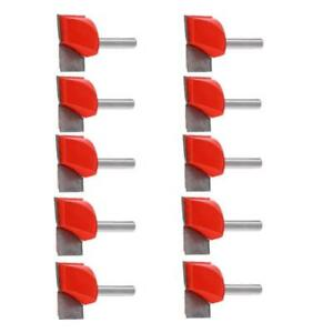 10pcs set V groove Router Bit Cnc Engraving Woodworking Cutter Tool 6x30mm