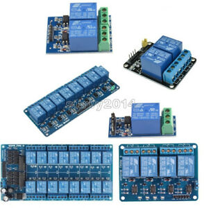 12v 1 2 4 8 16 Channel Relay Module With Optocoupler For Pic Avr Dsp Arm Arduino