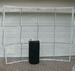Ready Pop Readypop 10 Pop up Portable Display Frame Trade Show Curve Wall Case