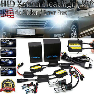 Canbus Xenon Hid Conversion Kit Slim Ballast Bi xenon No Flicker Headlight Bulbs