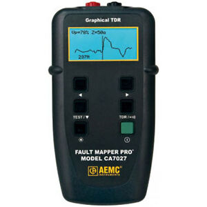 Aemc Ca7027 Fault Mapper Pro telephone Cable Tester Graphical Tdr