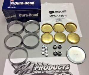 Ford Fe 390 428 Engines Dura Bond F33 Cam Bearings Melling Brass Soft Plug Kit
