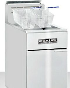 American Range Acfc Heavy Duty 50lb 70lb Stainless Steel Deep Fryer refurb