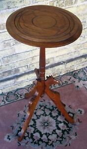 Antique Walnut Hand Carved Victorian Candle Lamp Plant Display Stand Late 1890 S