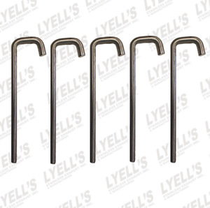 1 2 304 Stainless J Hook Exhaust Hangers 5 Pack