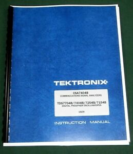 Tektronix Csa7404b User Manual Comb Bound Protective Covers