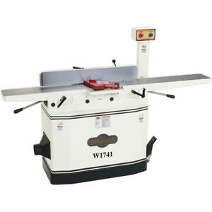 Shop Fox W1741 240 volt 8 inch Single phase Jointer W Adjustable Beds