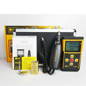1pc Portable Digital Vibrometer Tm63b Vibration Meter Analyzer Lcd Backligh