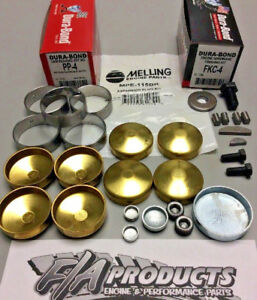 Pontiac 1955 1981 V8 Engine Block Hardware Hp Cam Bearings Brass Soft Plugs Kit