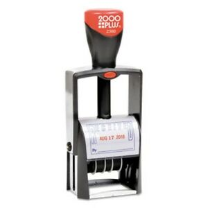 Cosco Self inking Heavy duty Line Dater With Microban Red blue cos032880