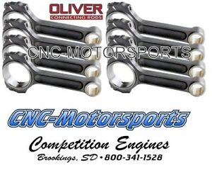 Oliver Billet I Beam Connecting Rods Bb Chevy 6 385 Length C6385bbmx8