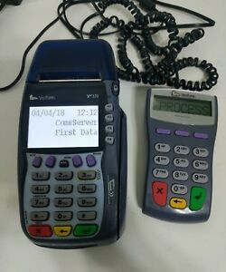 Verifone Vx570 Omni 5750 Pos Credit Card Terminal W pinpad 1000se And Power Cord