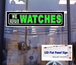 Led Sign We Repair Watches Window Sign 48x12 Neon Banner Alternative New Led