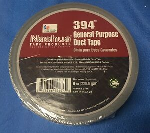 6 Rolls Of Nashua 394 General Purpose Duct Tape Hvac 1 89in X 60 1 Yd