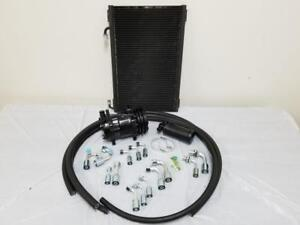 Universal 134a Air Conditioning Ac Hose Kit Drier Condenser Black Compressor