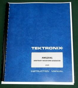 Tektronix Awg2041 User Manual Comb Bound Protective Covers