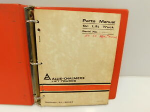 Allis Chalmers Accl 50ps Forklift Parts Manual Service Repair Book e30 462
