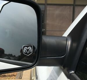 Dodge Ram Head Etched Frosted Look Mirror Glass Decal Stickers Set Of 2