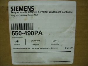 Siemens Programmable Bacnet Heat Pump Tec Equipment Controller 550 490pa New