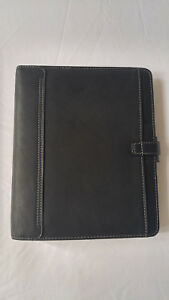 Filofax A5 Kendal Black Leather Personal Organizer