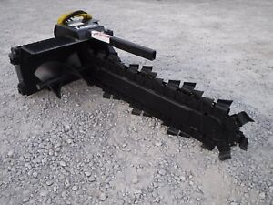 Bobcat Skid Steer Loader Attachment Lowe Xr 14 48 By 6 Trencher Ship 199