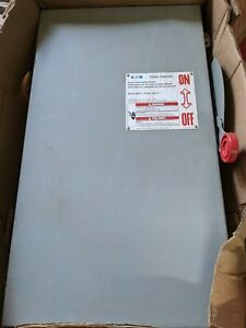 Dh364ugk Eaton 200a Amp 3p Pole 600v Nf Non Fusible Disconnect Safety Switch U