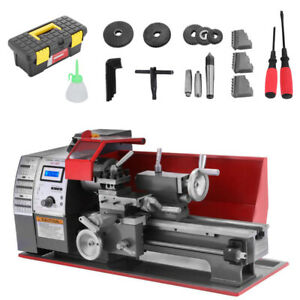 7 12 Mini Metal Turning Lathe Machine Automatic Metal Wood Drilling 600w Top