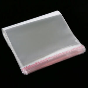 100pcs14x24cm Clear Transparent Plastic Opp Self Adhesive Seal Bag Wholesale 1 5
