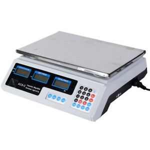 30kg 66lbs Home Kitchen Digital Weight Scale Retail Food Count Scale Ac 110v Us