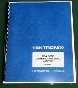 Tektronix Csa 803c Service Manual W 11 x17 Foldouts Protective Covers