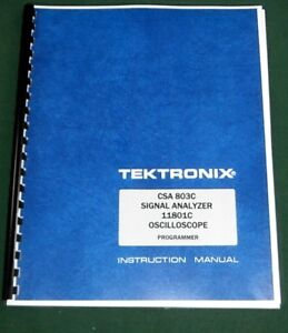 Tektronix Csa 803c 11801c Programmer Manual Comb Bound Protective Covers