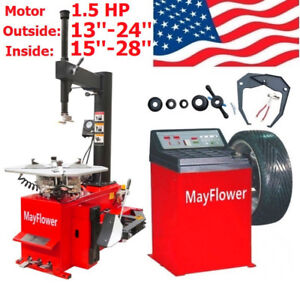 1 5 Hp Tire Changer Wheel Changers Balancer Machine Combo 980 800 Red Edition