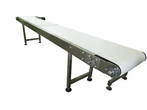 New Stainless Steel 10 X 16 Conveyor With Sanitary Table Top Belt made In Usa