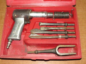 Snap on Ph 50c Air Hammer Chisel With Case 5 Bits For Parts repair