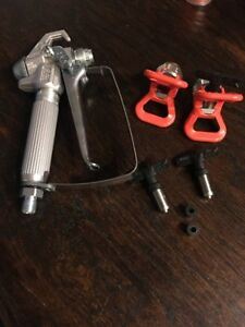 Graco Sg2 Airless Paint Spray Gun 515 Tip New Plus Extra Guard 313 619 Tips